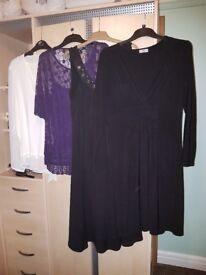 Black dress x 2 and 2 tops