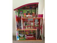 dolls house (for Barbie size doll) with furniture