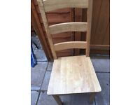 6 solid pine dining chairs