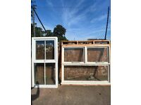 PVC and wooden Windows good condition