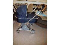 Mamas and papas navy urbo 2 carry cot and chassis