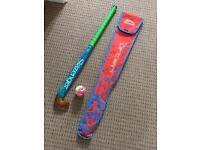 Hockey stick, ball and carry bag Slazenger