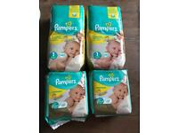 Pampers premium nappy's 2 x44 2x22