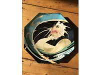 Pair of Black Ryden Limited Edition Plates by Moorcroft
