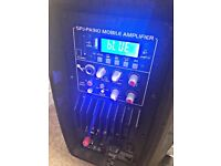 PA speaker DJ STAGE ACTIVE400W BATTERY BLUETOOTH USB SD MP3 VHF, GREAT CONDITION, GREAT QUALITY,SALE