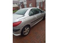 Silver Peugeot 206cc, small few dents visable in pictures. Looking for £750