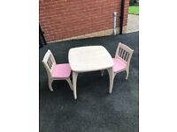 Kids table and chairs pin furniture