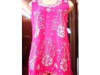 BEAUTIFULL PINK AND SILVER 3 PIECE PATIALA SUIT WEDDINGS,PART WEAR,MENDI,FUNCTIONS,PARTYS, NEW
