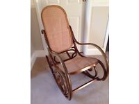 Beautiful vintage 1970's Bentwood style rocking chair
