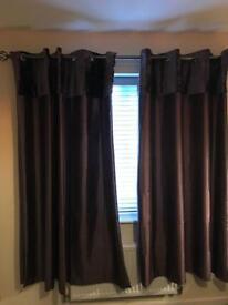 Purple curtains part velvet