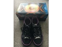 Heelys: Size 6: Black, Silver and Lilac in original box