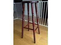 Wooden bar stool with carved legs (mahogany)