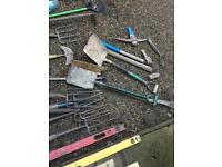 Big collection of garden hand tools over 40 bits
