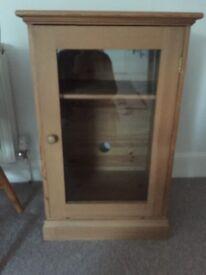 Pine cupboard/entertainment cabinet