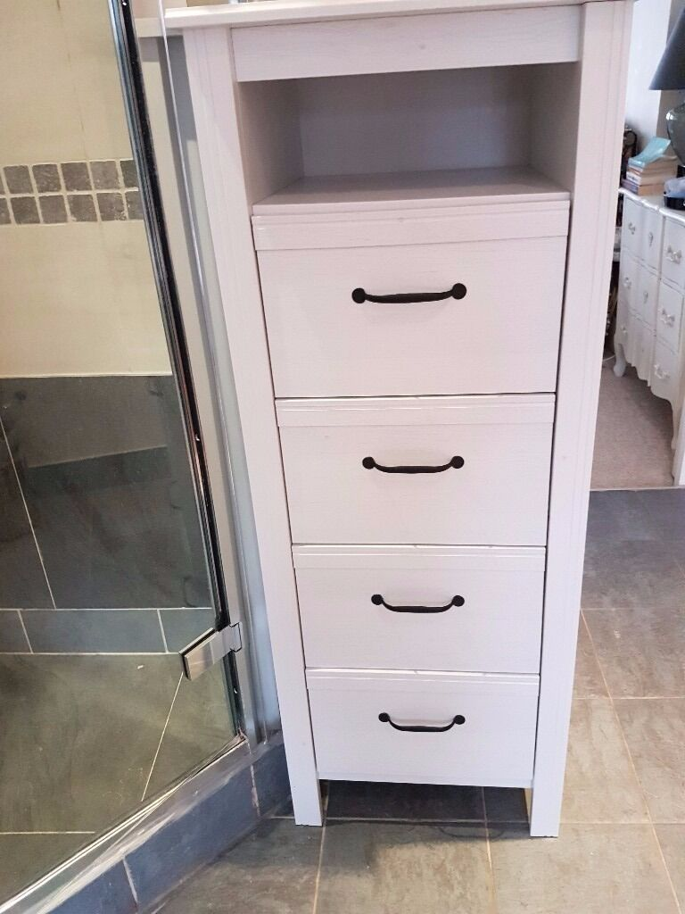 ikea brusali tall chest of 4 drawers with gap in white in earls court london gumtree. Black Bedroom Furniture Sets. Home Design Ideas
