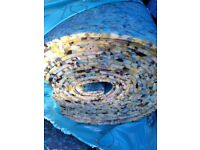 20 rolls of foam 10mm thick carpet underlay for sale . Brand new