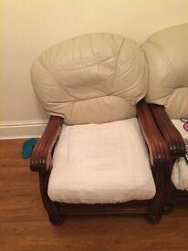 Leather sofa £45
