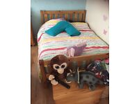 Solid wood 4f6 double bed plus memory foam materess