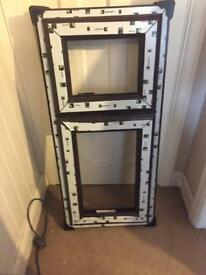 BRAND NEW Brown Window Frame with opaque glass