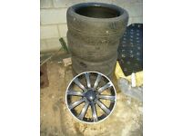 VW Golf MK 5 alloys (×4) good condition 1 needs repairing