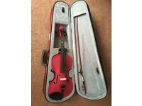 CREMONA SV 75 FULL SIZE VIOLIN OUTFIT- ROSE