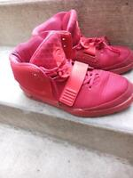 Red yeezy booters nike shoes