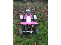 Pink and white Quad bike
