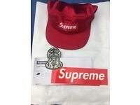 Supreme Satin Camp Cap SS17H8, New with tags