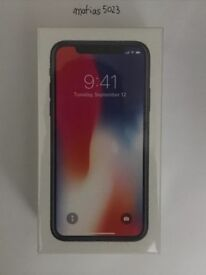 iPhone X Space grey 256GB with Apple receipt