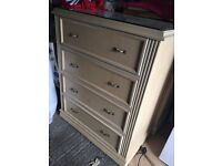 Two identical very good quality beige chest drawers for sale.