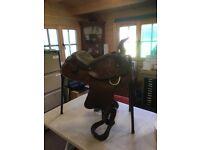 Western style ornamental full size saddle.