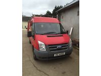 Transit van 110 great condition roof rack ladder sliding door with glass well maintained