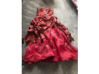 Red wedding dress size 16