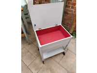 Vanity Unit with lift-up lid, Lower Shelf and drawer