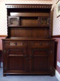 Welsh Dresser, Medium Oak by Stanley Wood of Olney