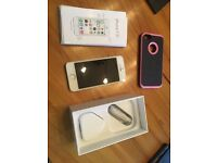 iPhone 5s silver with headphones, charger, case and original packaging - Locked Vodafone