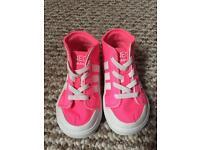 Infant girls Adidas high tops
