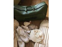 Vintage cricket gear with hold-all