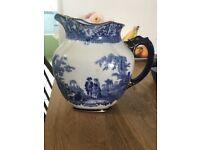 Watteau Doulton jug blue and white