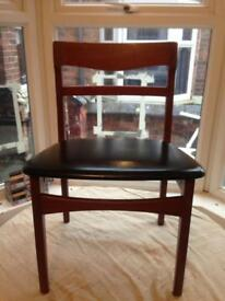 1960's Nathan Danish Design mid century classic Teak Wood desk /dining Chair