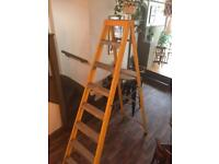 2.4m 8 Thread Fibreglass Step Ladder