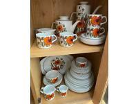 Vintage poppy tea set