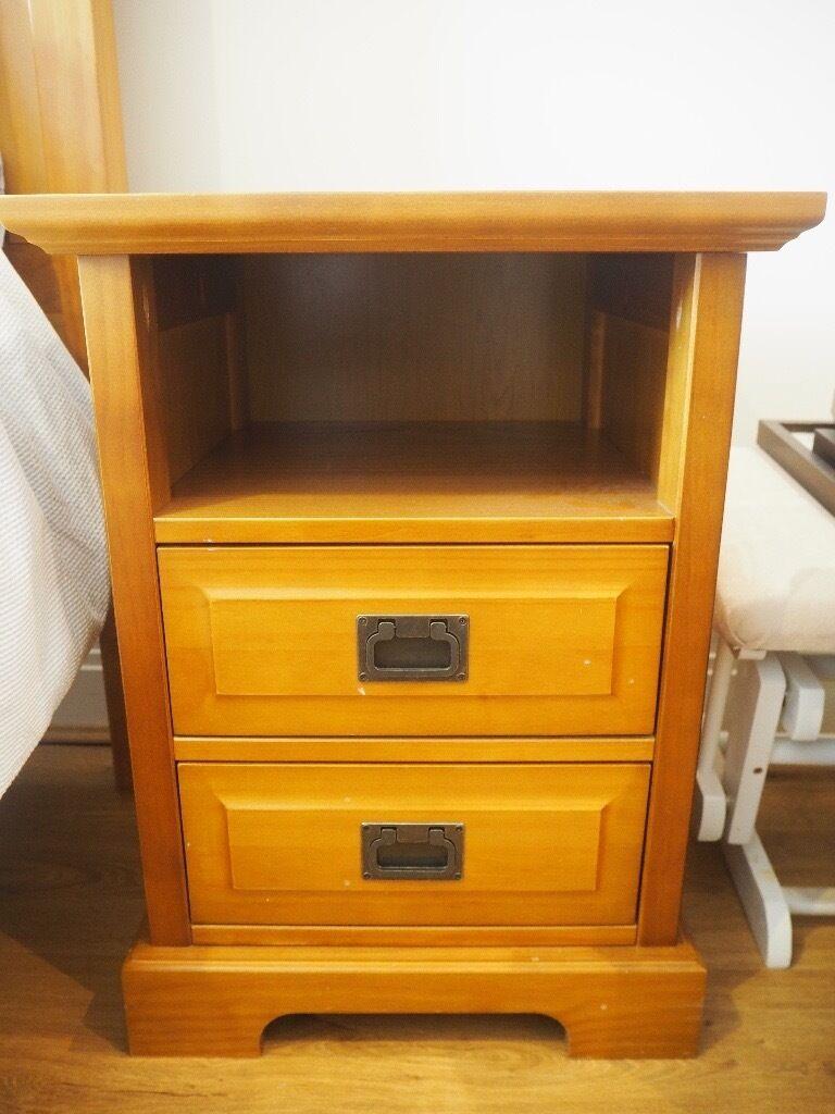 Wooden Bedside Table x2 - Marks & Spencer