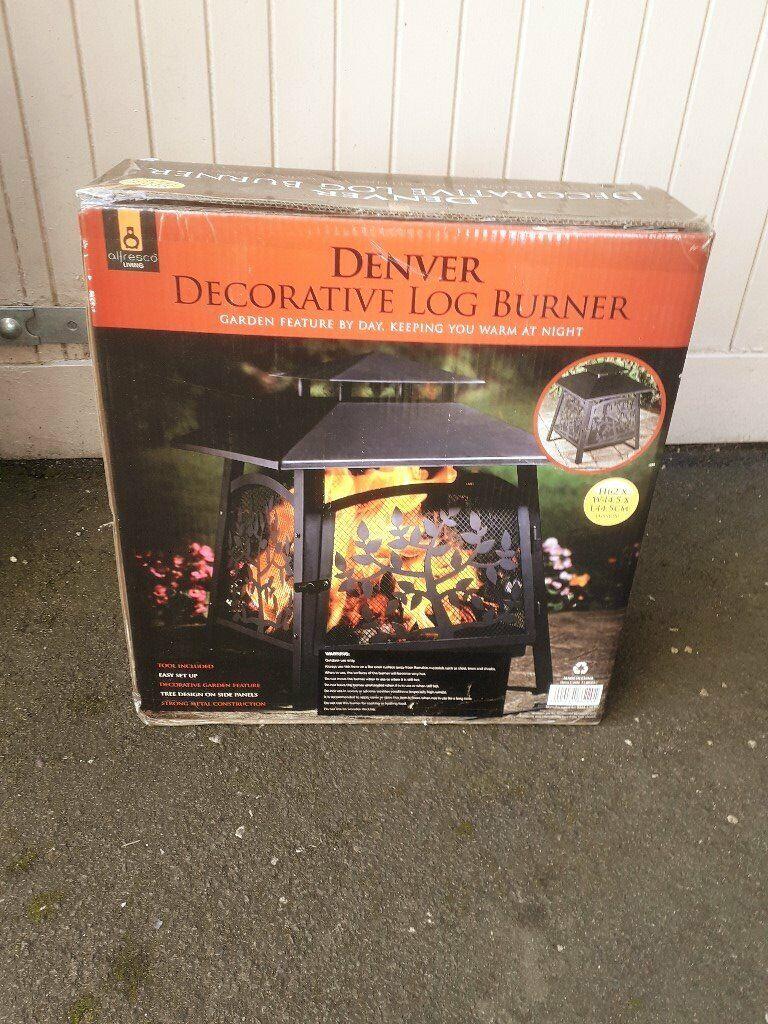 Allresco decorative garden log burner.   in largs, north ayrshire   gumtree