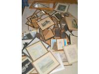 Job Lot of over 70 Picture Frames - Modern, Vintage and Antique