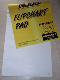 Nobo A1 Flipchart Pad Gridded 25 mm 40 Sheets 80 gsm Paper Perforated at Head 346 31166