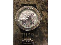 Women's guess watch pink diamanté