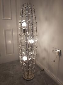 Decorative Freestanding Light - silver / crystal effect