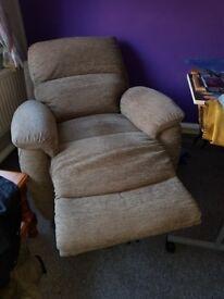 Electric recliner chair not a riser