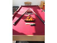 5ft Folding Snooker and Pool Table